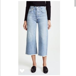 Emma high rise wide leg crop jeans